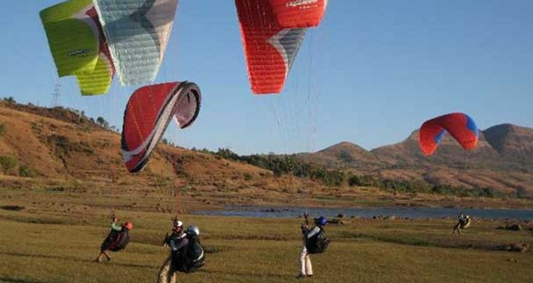 Kamshet paragliding in india
